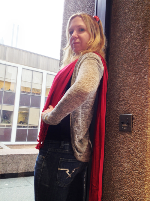 me dressed in the style of Thor